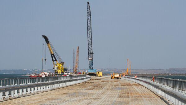 Kerch Strait Bridge Preparatory Work in Taman - Sputnik Mundo