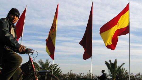 Banderas de España y Marruecos - Sputnik Mundo