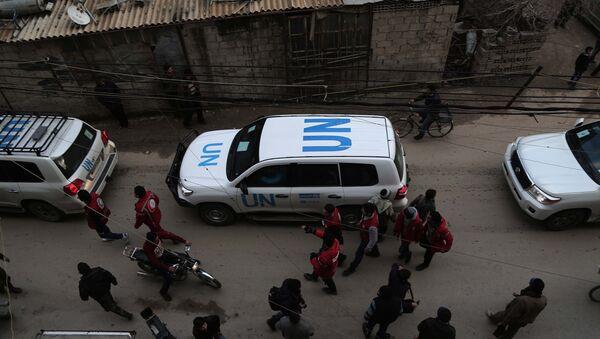 Ayuda humanitaria en Siria (archivo) - Sputnik Mundo