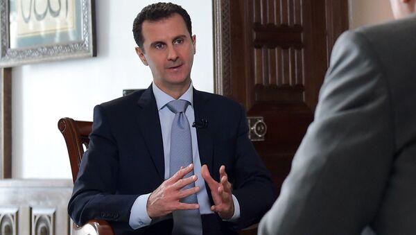 Bashar Asad, el presidente de Siria, durante una entrevista con Sputnik - Sputnik Mundo