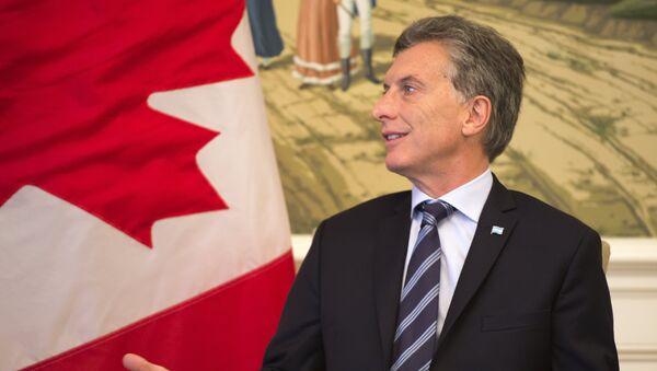 Mauricio Macri, presidente de Argentina, durante el encuentro con el primer ministro de Canadá, Justin Trudeau - Sputnik Mundo