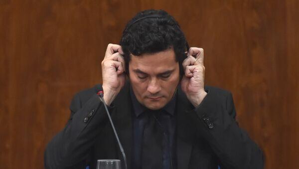 Sérgio Moro, exjuez y actual ministro de Justicia de Brasil (archivo) - Sputnik Mundo
