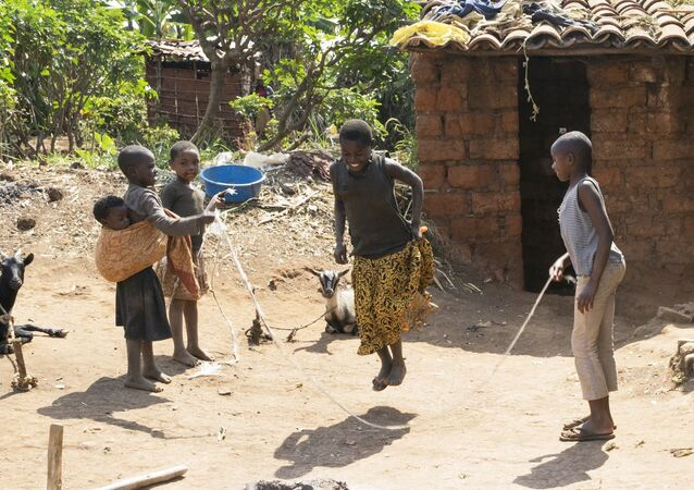 Niñas africanas