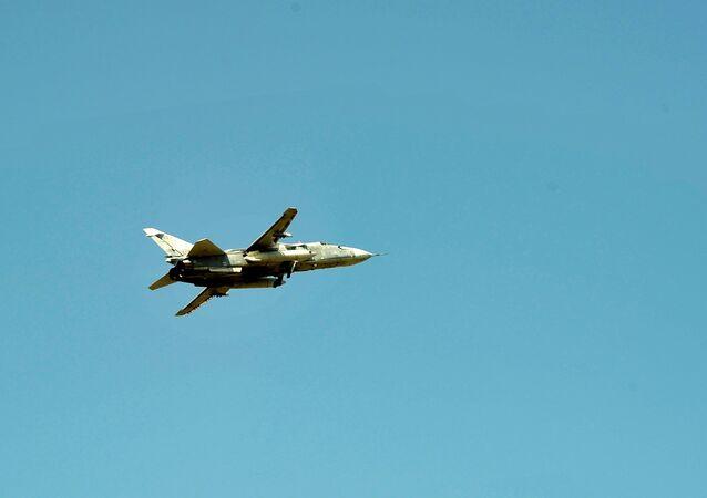 Un avión Su-24 (imagen referencial)