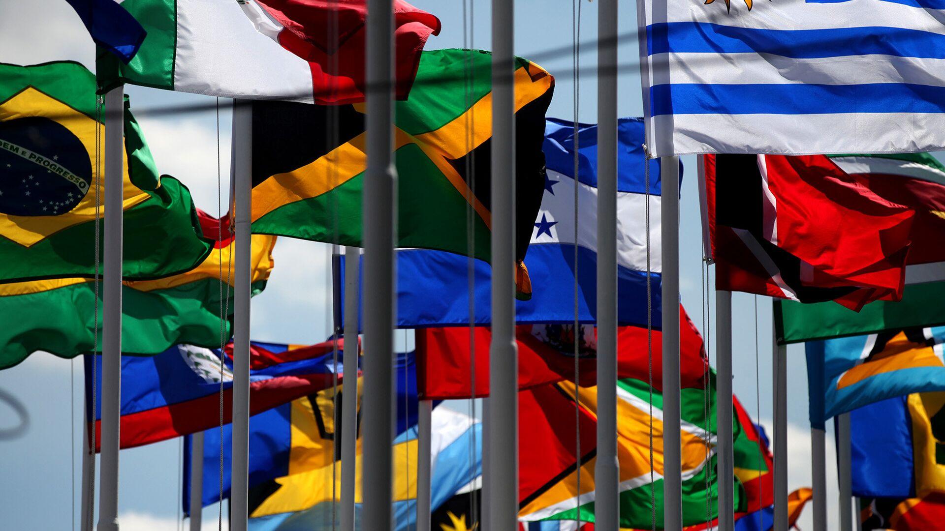 Banderas de países miembros de la CELAC (archivo) - Sputnik Mundo, 1920, 10.03.2021