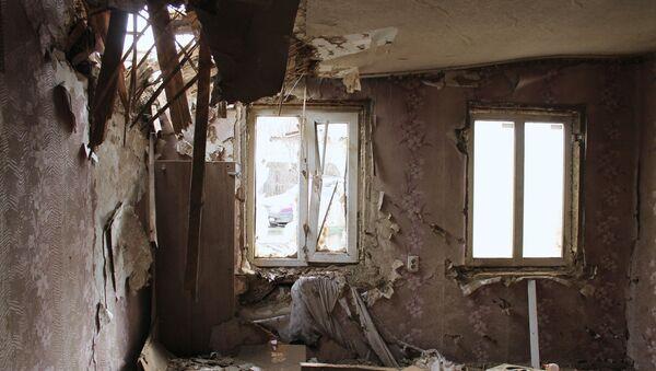 Edificios destruidos en la región de Donetsk - Sputnik Mundo