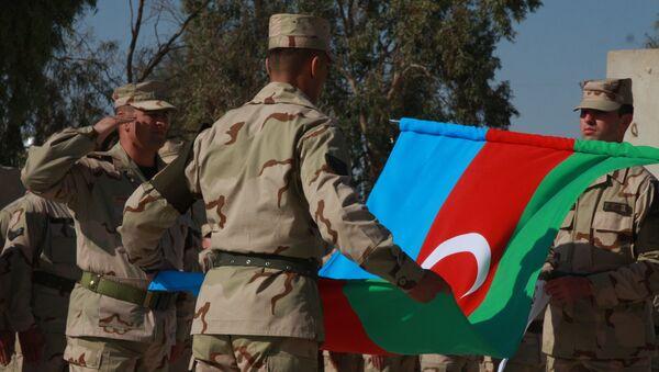 Militares azerbaiyanos (archivo) - Sputnik Mundo
