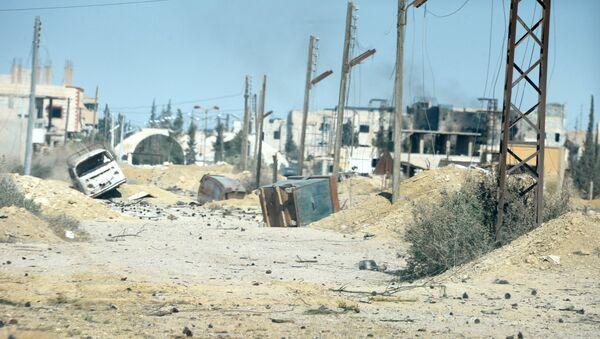 La ciudad de Al Qaryatayn, recién liberada de los terroristas - Sputnik Mundo
