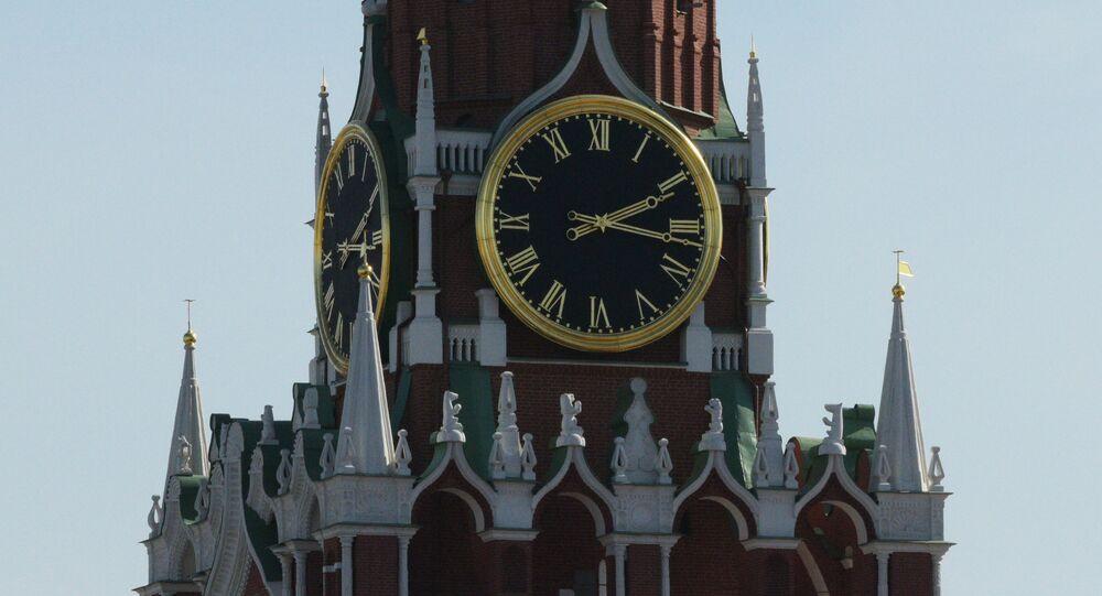 El reloj principal del Kremlin de Moscú