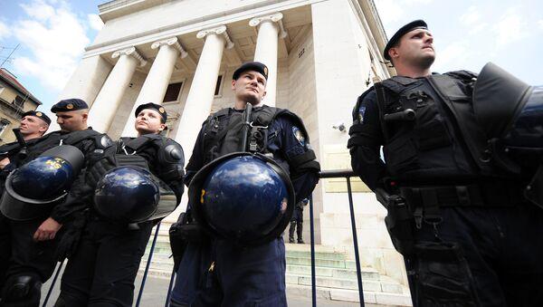 Los policías croatas en Zagreb (archivo) - Sputnik Mundo