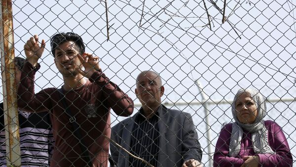 Migrantes en Grecia - Sputnik Mundo