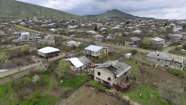 Localidad de Martakert que, según los medios armenios, fue afectada por las hostilidades en la región - Sputnik Mundo