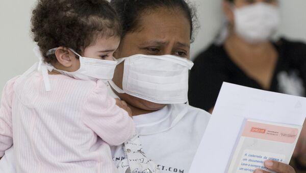 Epidemia de gripe H1N1 en Brasil (archivo) - Sputnik Mundo