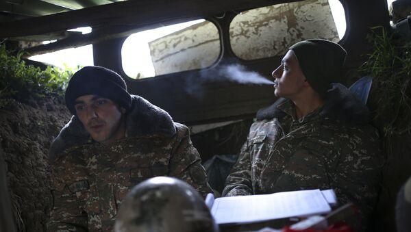Militares armenios en Nagorno Karabaj - Sputnik Mundo