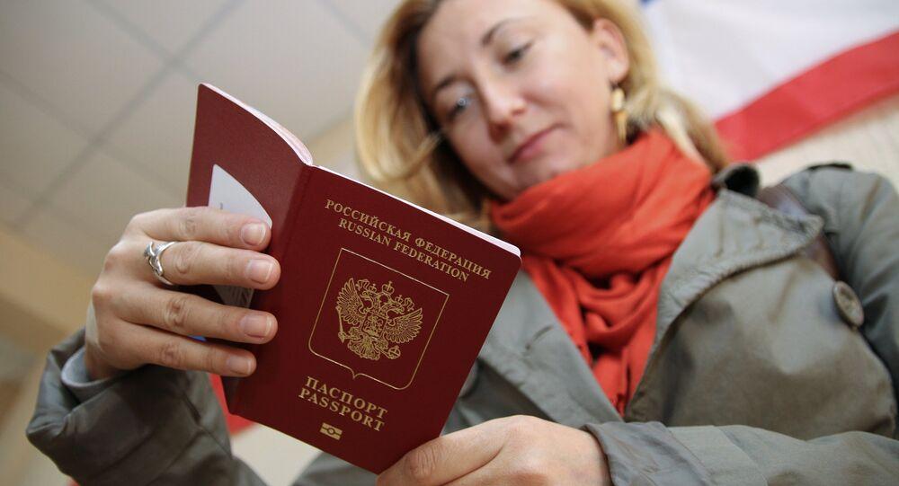 El pasaporte extranjero ruso