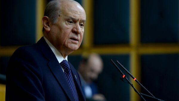 Devlet Bahceli, líder del Partido de Acción Nacionalista (MHP) de Turquía - Sputnik Mundo