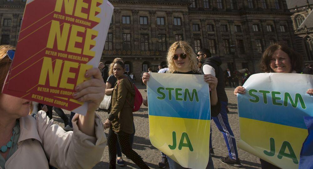 Opiniones encontradas entre los manifestantes del referéndum sobre Ucrania