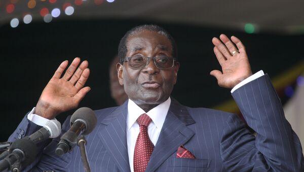 Robert Mugabe, presidente de Zimbabue - Sputnik Mundo
