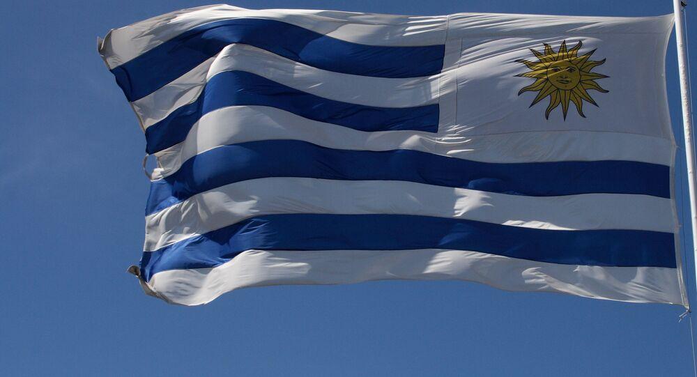 La bandera de Uruguay