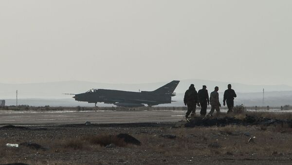 Caza Su-22 sirio - Sputnik Mundo