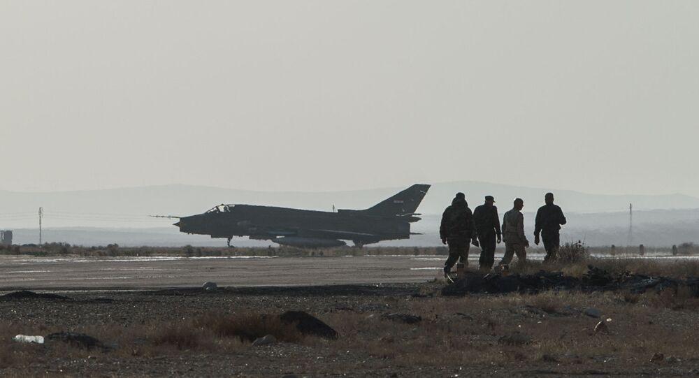 Caza Su-22 de las Fuerzas Aéreas de Siria