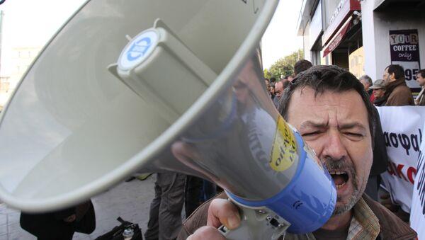 Protestas en Grecia (archivo) - Sputnik Mundo