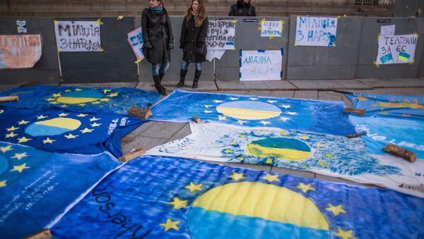 Manifestación en apoyo a la asociación Ucrania-UE (archivo) - Sputnik Mundo