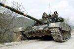 Un tanque de las autodefensas de Nagorno Karabaj