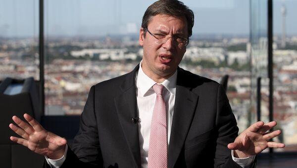 Alexandar Vucic, primer ministro de Serbia - Sputnik Mundo