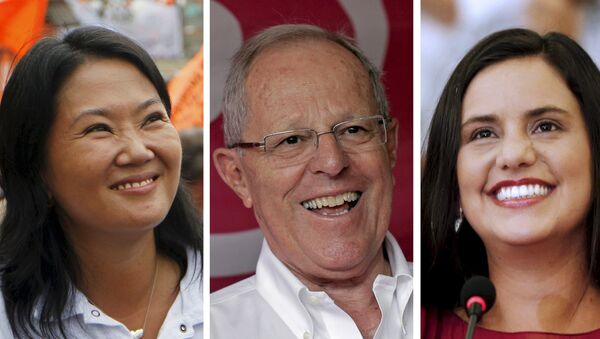 Candidatos a la presidencia de Perú: Keiko Fujimori, Pedro Pablo Kuczynski y Veronika Mendoza - Sputnik Mundo