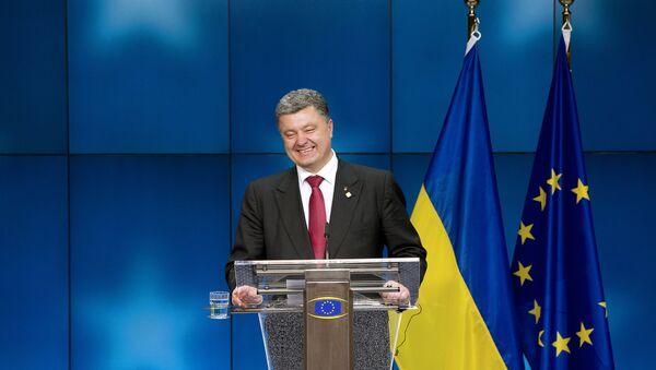 Petró Poroshenko, el presidente de Ucrania, en el Consejo Europeo en Bruselas - Sputnik Mundo