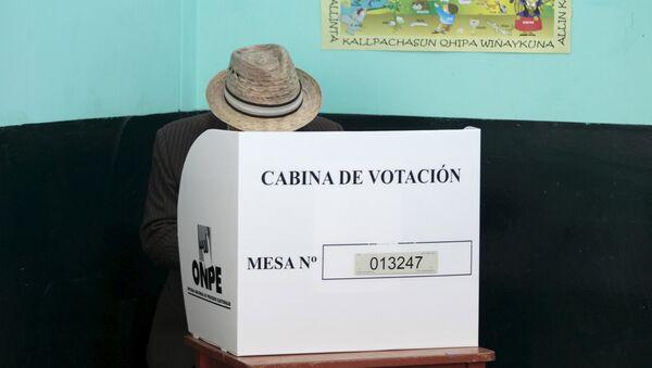 Concluye horario de votación en Perú - Sputnik Mundo