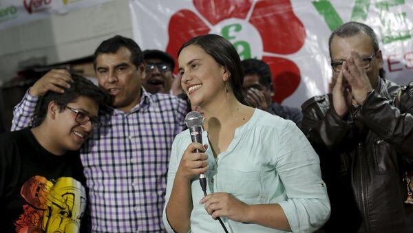 Verónika Mendoza, ex candidata presidencial peruana - Sputnik Mundo