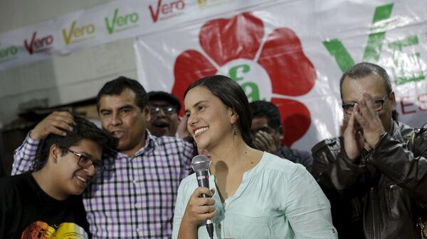Verónika Mendoza, candidata presidencial peruana - Sputnik Mundo