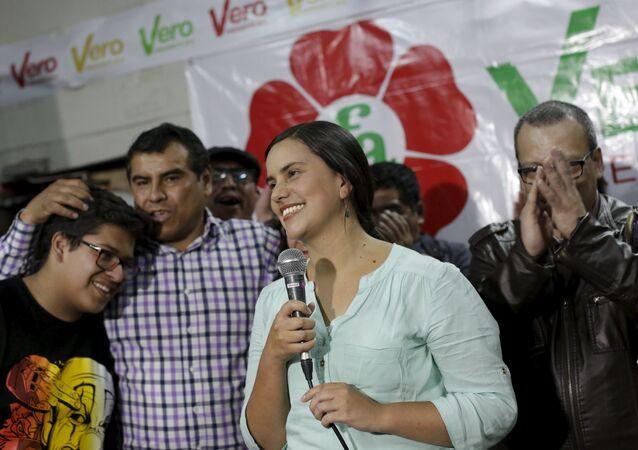 Verónika Mendoza, ex candidata presidencial peruana