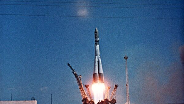 El lanzamiento de la nave espacial  Vostok-1 con Yuri Gagarin a bordo - Sputnik Mundo