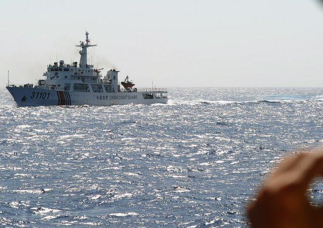 Nave china en el mar de la China Meridional