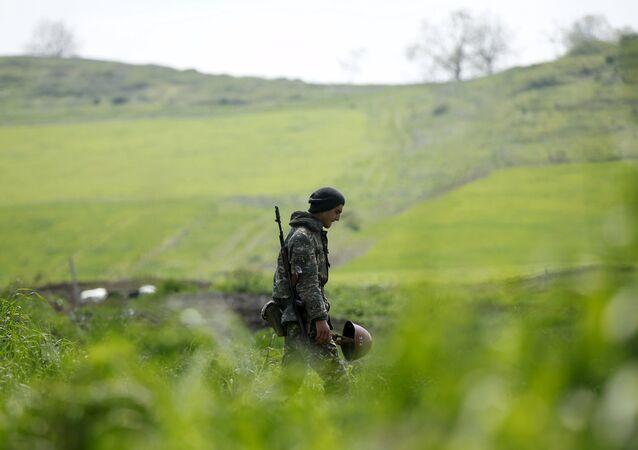 Militar en Nagorno Karabaj