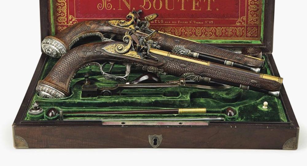 Las pistolas de Simón Bolívar subastadas por Christie's
