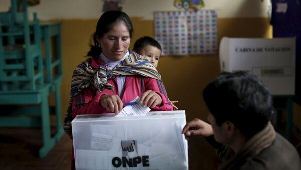 Elecciones presidenciales en Perú (archivo) - Sputnik Mundo