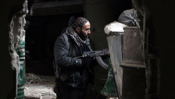 Combatiente de Yeish al Islam (archivo) - Sputnik Mundo