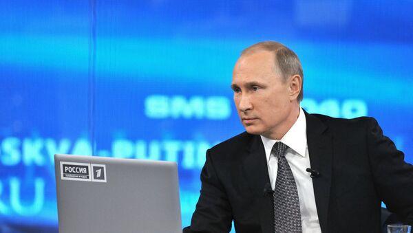 Línea directa con el presidente ruso Vladímir Putin - Sputnik Mundo