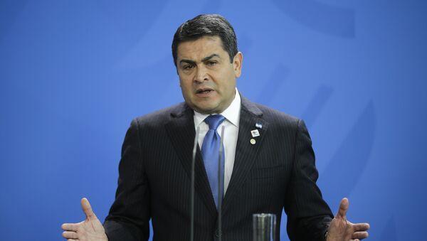 Juan Orlando Hernández, presidente de Honduras - Sputnik Mundo