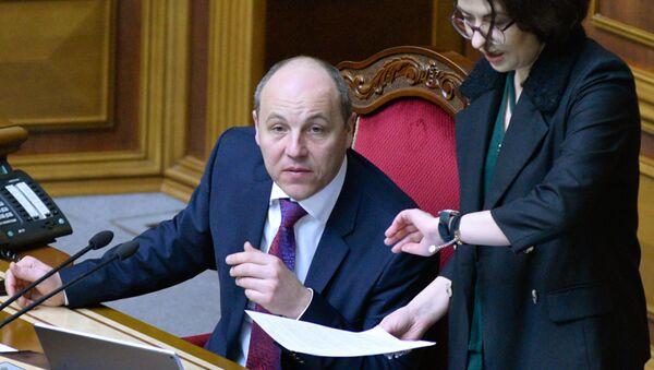 Andréi Parubi, presidente del Parlamento ucraniano - Sputnik Mundo