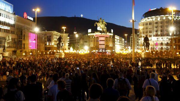 Protestas antigubernamentales en Macedonia - Sputnik Mundo