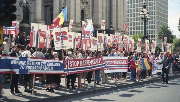 Protesta contra la Barnevernet (archivo) - Sputnik Mundo