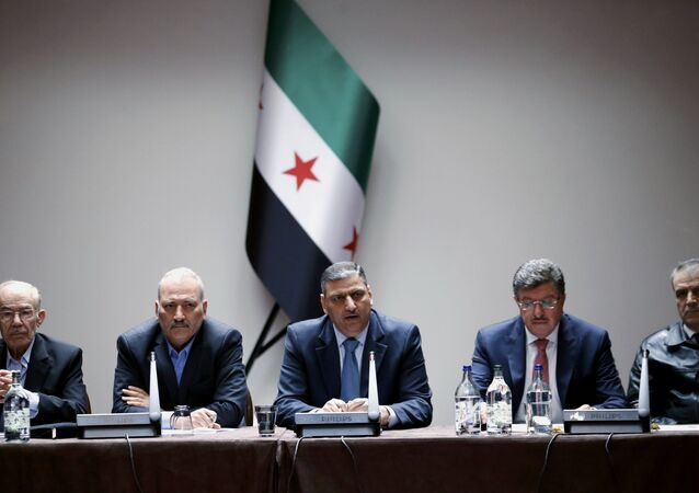 Miembros del Alto Comité de Negociaciones (archivo)