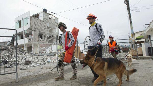 Trabajos de rescate en Ecuador - Sputnik Mundo