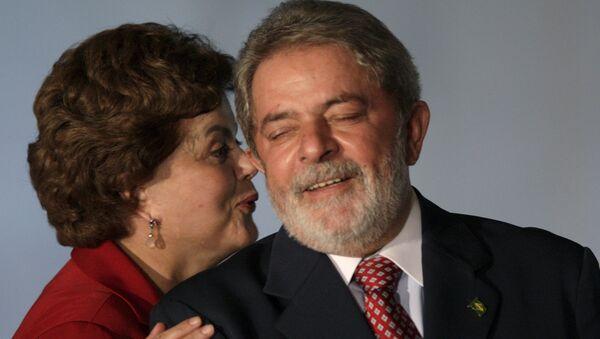 Expresidenta brasileña, Dilma Rousseff, y expresidente, Luiz Inácio Lula da Silva (archivo) - Sputnik Mundo