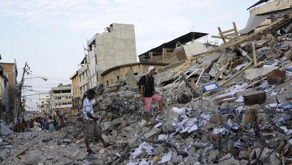 Consecuencias del sismo en Ecuador - Sputnik Mundo